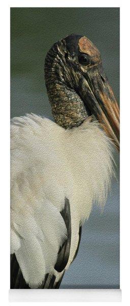 Wood Stork In Oil Yoga Mat