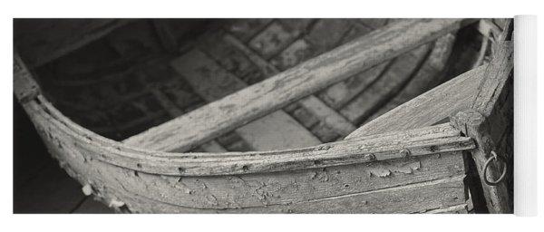 Wooden Boat Fading Away Yoga Mat
