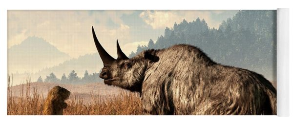 Woolly Rhino And A Marmot Yoga Mat