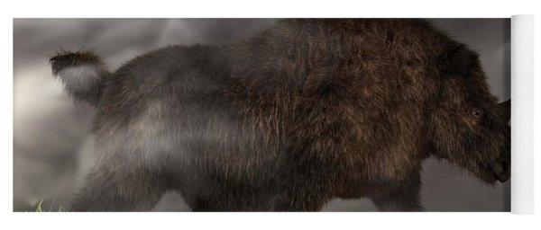 Woolly Rhinoceros Yoga Mat