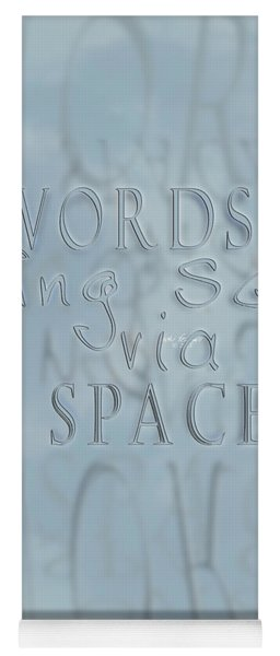 Yoga Mat featuring the photograph Words In Space by Vicki Ferrari