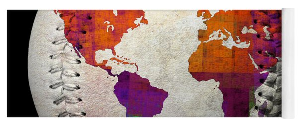 World Map - Rainbow Bliss Baseball Square Yoga Mat