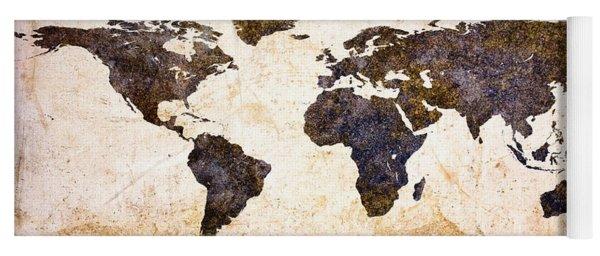 World Map Abstract Yoga Mat