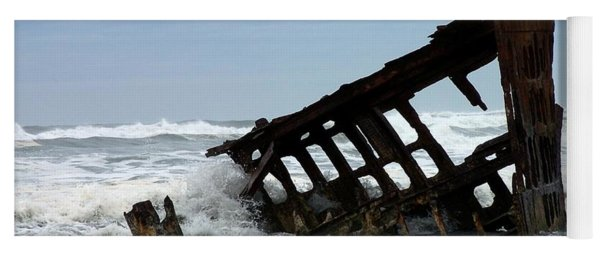 Wreck Of The Peter Iredale Yoga Mat