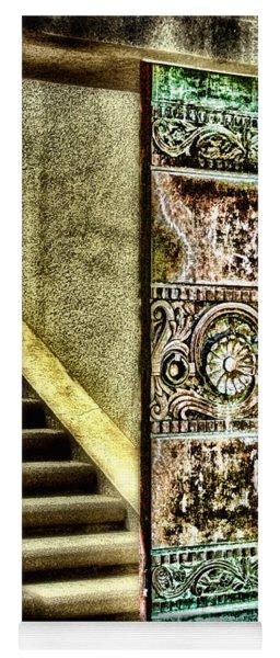 Wrigley's Tower Bronze Doors By Diana Sainz Yoga Mat
