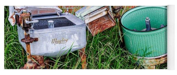 Wringer Washer And Laundry Tub Yoga Mat