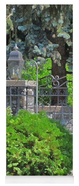 Wrought Iron Gate Yoga Mat