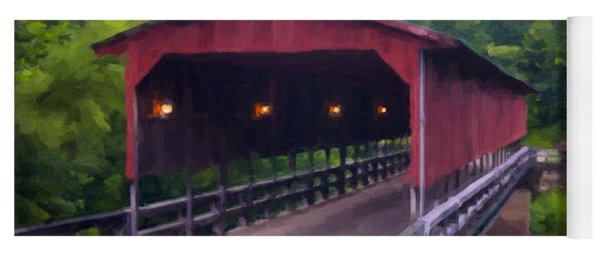 Wv Covered Bridge Yoga Mat