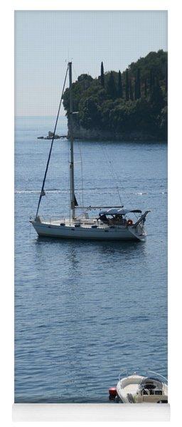 Yachts At Anchor Yoga Mat