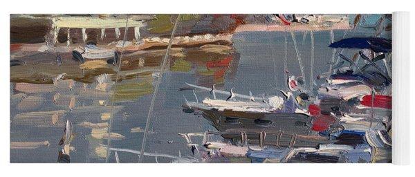 Yachts In Port Credit  Yoga Mat