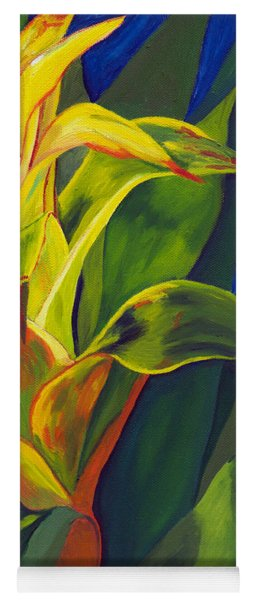 Yellow Bromeliad Yoga Mat