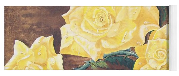 Yellow Carpet Rose Yoga Mat