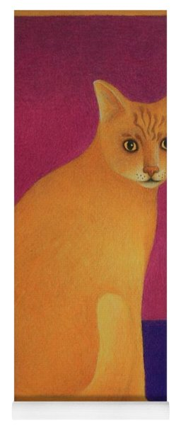Yellow Cat Yoga Mat