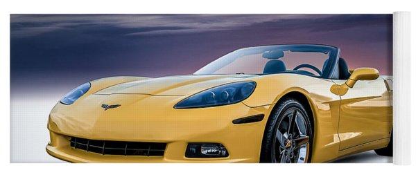 Yellow Corvette Convertible Yoga Mat