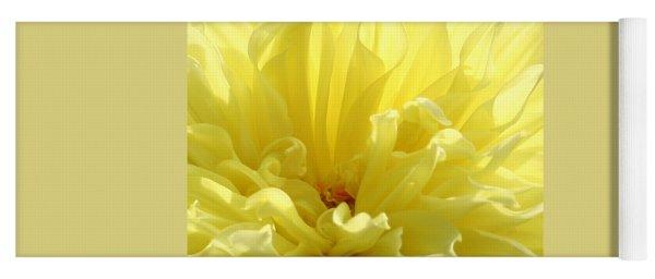 Yellow Dahlia Burst Yoga Mat