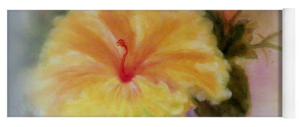 Yellow Hibiscus Yoga Mat