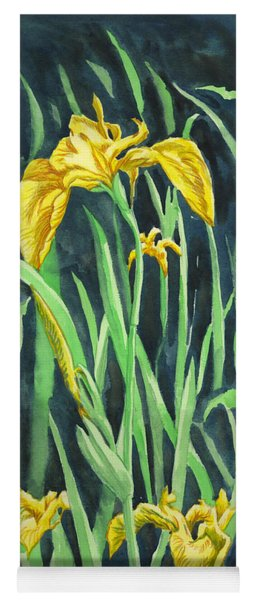 Yellow Iris Yoga Mat