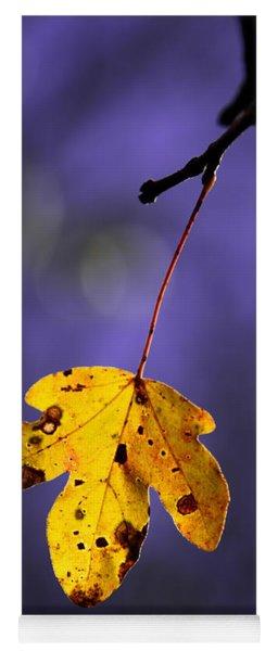 Yellow Leaf Yoga Mat