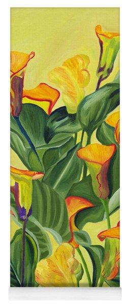 Yellow Lilies Yoga Mat