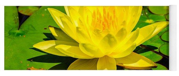Yellow Lily Yoga Mat