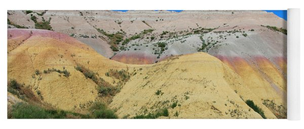 Yellow Mounds Badlands National Park Yoga Mat
