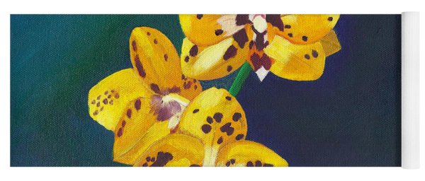Yellow Orchids Yoga Mat