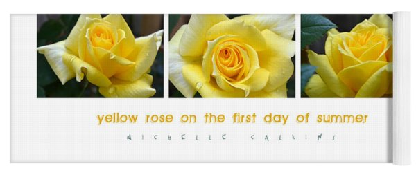 Yellow Rose On The First Day Of Summer Yoga Mat