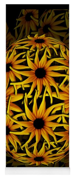 Yellow Sunflower Seed Yoga Mat