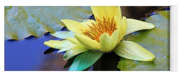 Yellow Water Lily Yoga Mat
