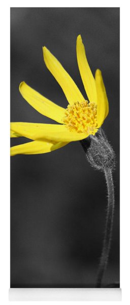Yellow Wildflower Yoga Mat