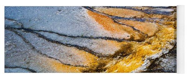 Yellowstone Nature Abstract Yoga Mat