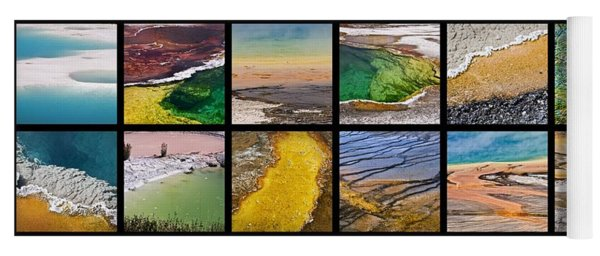 Yellowstone Colors Yoga Mat