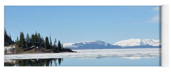Yellowstone Lake In The Spring Yoga Mat