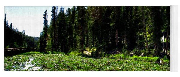 Yellowstone Lily Pads  Yoga Mat