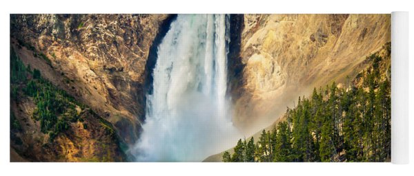 Yellowstone Lower Waterfalls Yoga Mat