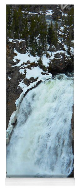 Yellowstone Upper Falls In Spring Yoga Mat