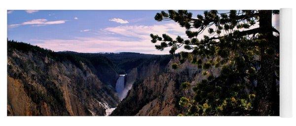 Yellowstone Waterfall Yoga Mat