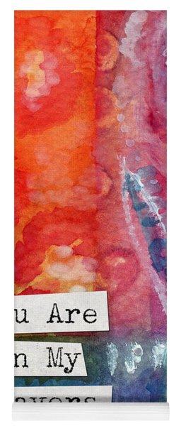 You Are In My Prayers- Watercolor Art Card Yoga Mat