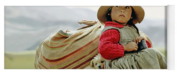 Young Girl In Peru Yoga Mat