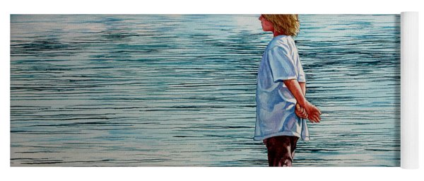 Young Lad By The Shore Yoga Mat
