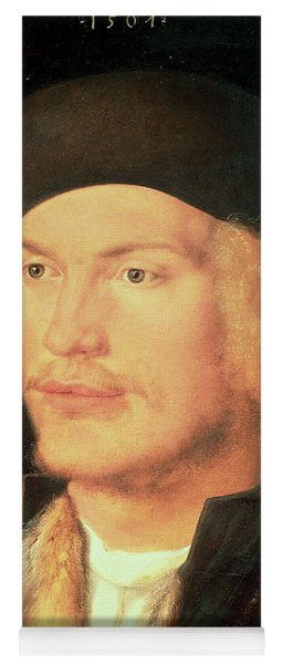Young Man, 1507 Oil On Panel Yoga Mat