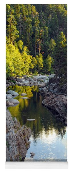 Yuba River Twilight Yoga Mat