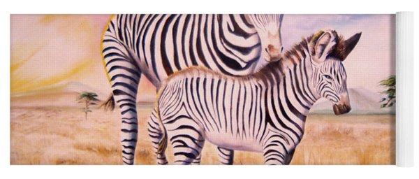 Zebra And Foal Yoga Mat
