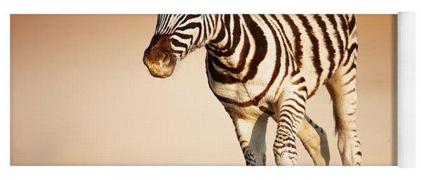 Zebra Calf Running Yoga Mat