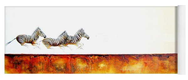 Zebra Crossing - Original Artwork Yoga Mat