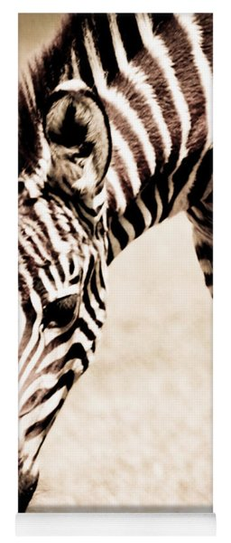 Zebra Foal Sepia Tones Yoga Mat