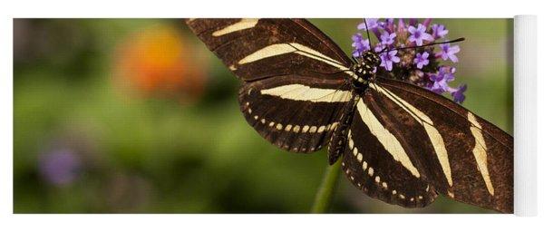 Zebra Longwing Butterfly Yoga Mat