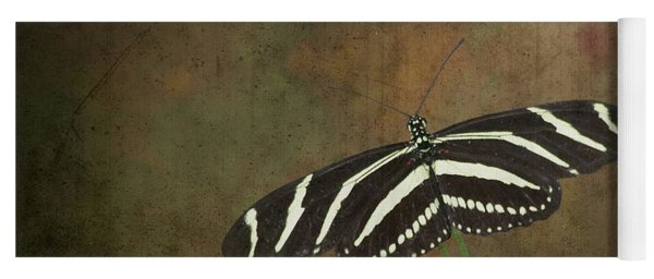 Zebra Longwing  Butterfly-1 Yoga Mat