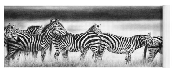 Zebra Panarama Yoga Mat