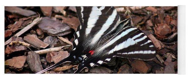 Zebra Swallowtail Butterfly Yoga Mat